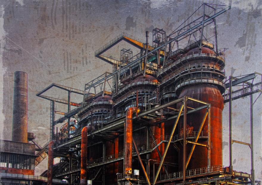 Hüttenwerk Phönix West 5, 64 x 90 cm (HB) Alu-Dibond, Auflage:10, signiert, Preis auf Anfrage