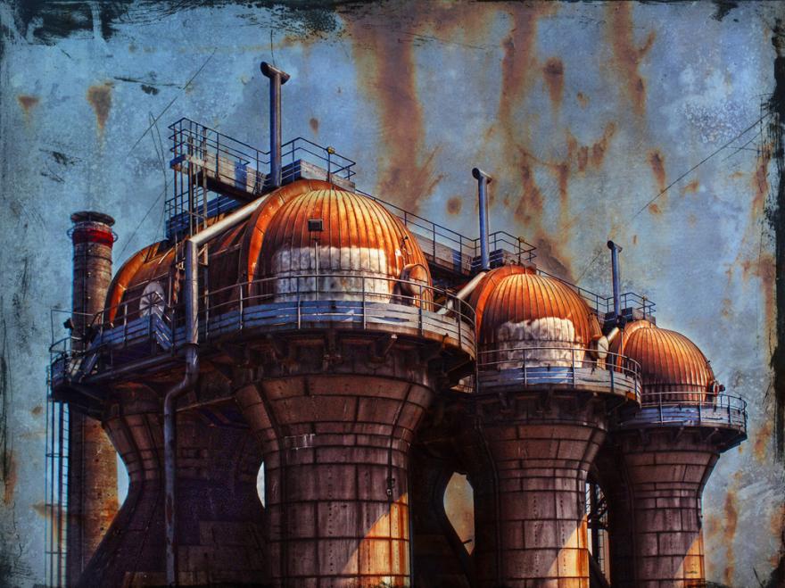 www.ziegenfeuter-artwork.de, Kokerei Hansa, Destillieranlage, 64 x 90 cm (HB) Alu-Dibond, Auflage:10, signiert, Preis auf Anfrage