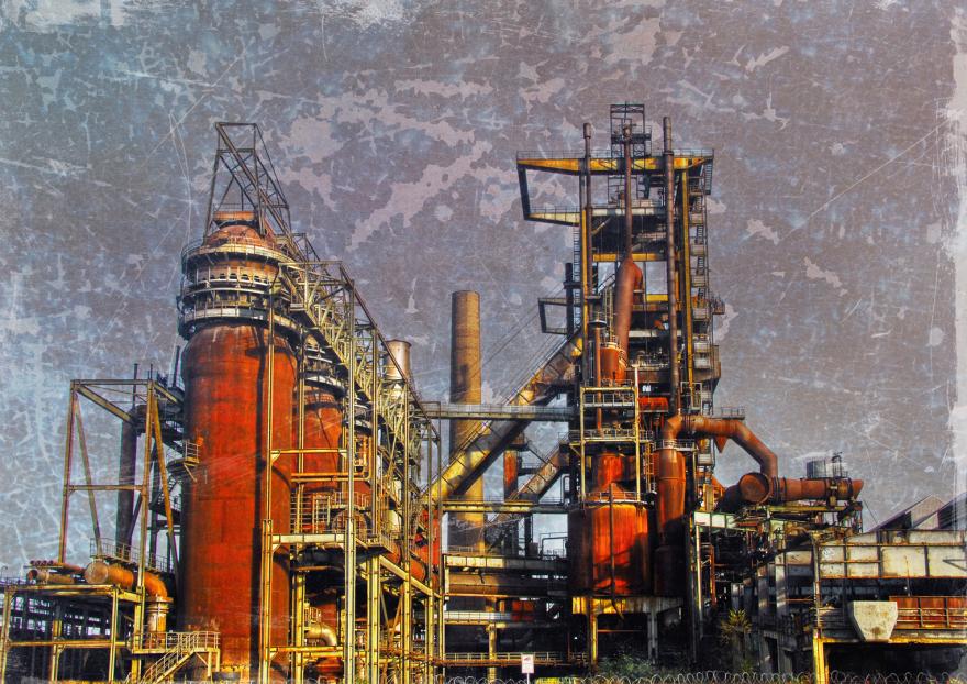 www.ziegenfeuter-artwork.de , Hüttenwerk Phönix West 3, 64 x 90 cm (HB) Alu-Dibond, Auflage:10, signiert, Preis auf Anfrage