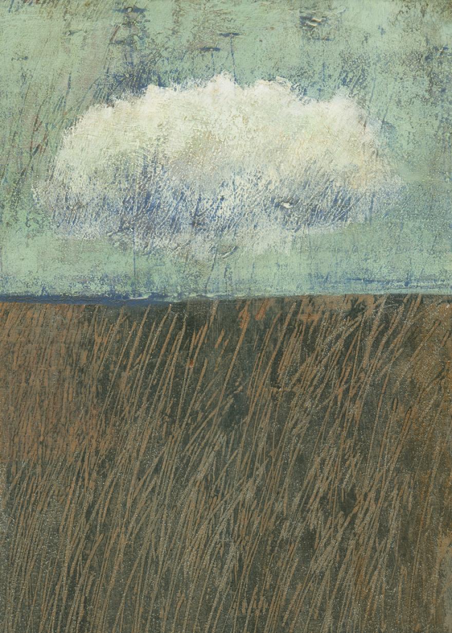 Herbststurm, Pror. Dieter Ziegenfeuter, Malerei, Artwork, Wolke, Landschaft