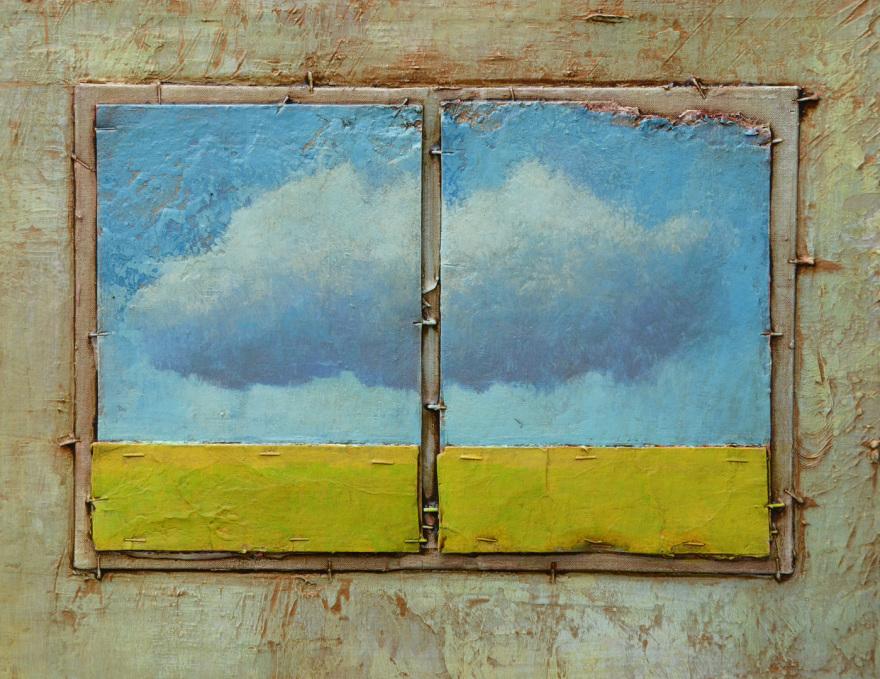 Collage, geteilt, Dieter Ziegenfeuter, Dortmund, Malerei