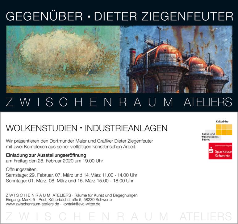 Ausstellung Dieter Ziegenfeuter Dortmund Wolkenbilder Zwischenraum-Ateliers