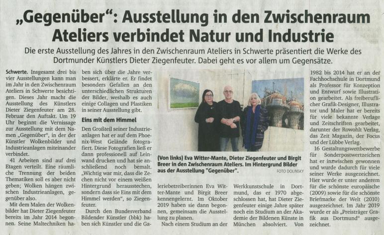 Zwischenraum Ateliers, Schwerte, Dieter Ziegenfeuter,