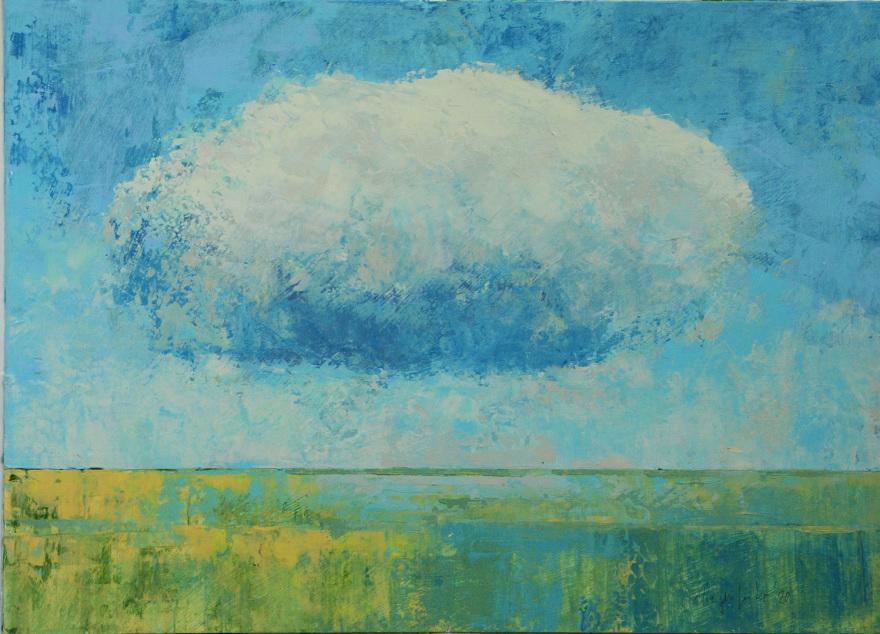 Landschaft, Wolke, Dieter Ziegenfeuter, Artwork