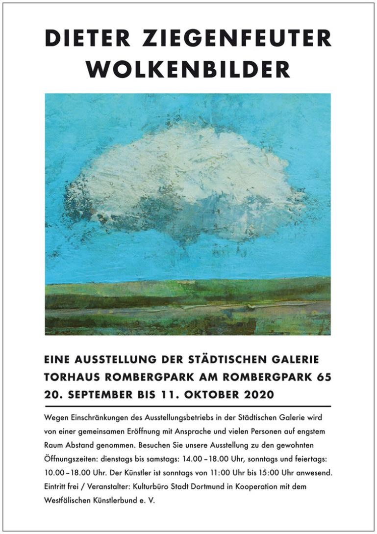 dieter ziegenfeuter, wolkenbilder, Ausstellung Torhaus Rombergpark, Dortmund,